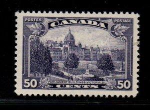 Canada Sc 226 1935 50c Victoria B.C. Parliament stamp mint NH