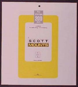 Scott/Prinz Pre-Cut Souvenir Sheets Small Panes Stamp Mounts 275x200 #1010 Clear