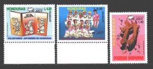 Honduras. 1995. 1291-93. Japanese volunteers in Honduras. MNH.