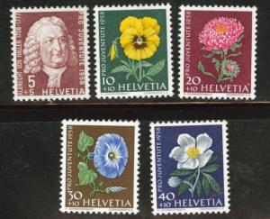Switzerland Scott B277-28 MNH** 1958 semipostal set see note
