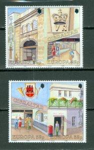 GIBRALTAR EUROPA #563a + #565a...MNH...$7.00