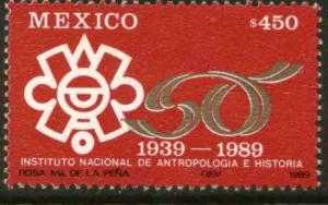 MEXICO 1637, Natl Inst of Anthropology & History 50th Anniv. MINT, NH. VF.