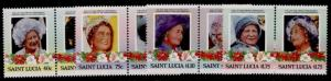 St Lucia 782-5 MNH Queen Mother 85th Birthday, Flowers