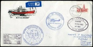 1983 Helicopter Flight Illustrated Cape Town Paquebot S.A. Agulnas