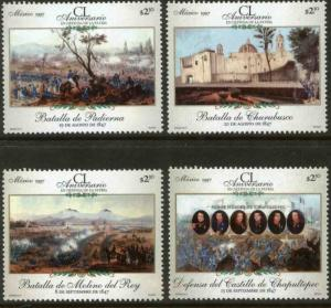 MEXICO 2045-2047A, Battles of 1847, 150th Anniversary. MINT, NH. VF