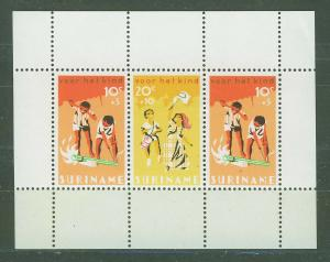 SURINAM/SURINAME 1966 MNH SC.B127/129a Child Walfare