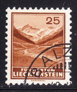 Liechtenstein-1935 25rp-Saminata VF-Used (o) Zum.No110 Key Stamp to set