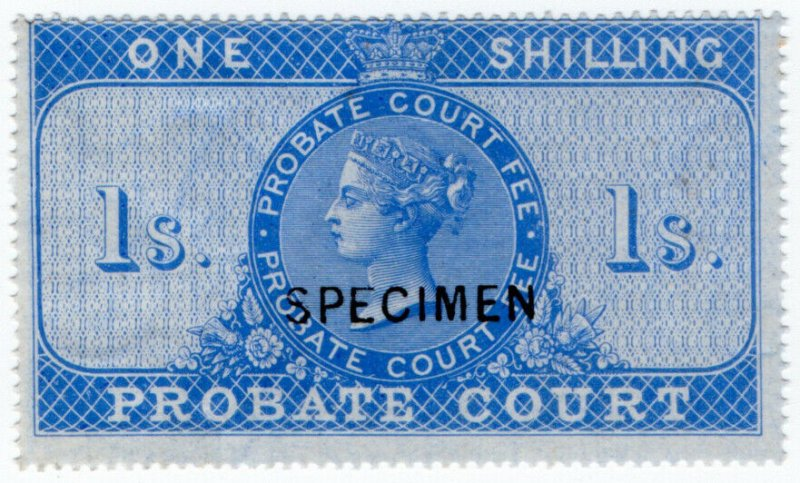 (I.B) QV Revenue : Probate Court 1/- (specimen)