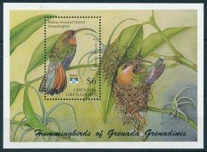 [108805] Grenada Grenadines 1992 Birds vögel oiseaux Hummingbirds Sheet MNH