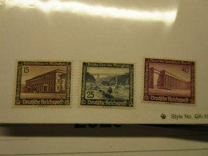 GERMANY  Scott  B99, B100 & B101  (top values in set)  MLH  LotA  Cat $9.50