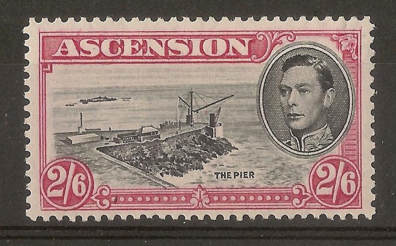Ascension 1944 2/6d SG45b Perf 13 Mint Cat£27