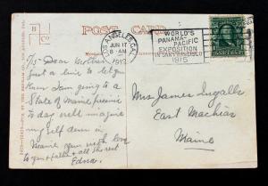 US Stamp Sc# 300 on 1912 Benham Postcard #3429 with Swastika Logo Upper Left