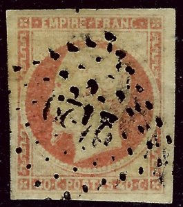 France Sc #18 Used VF+ SCV$12.50...French Stamps are Iconic!
