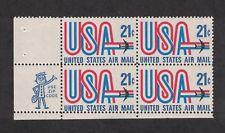 SCOTT # C81  21 CENT AIR MAIL PLATE BLOCK MINT NEVER HINGED !!