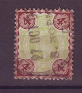 J17598 JLstamps 1902-11 great britain used #133 KEVII