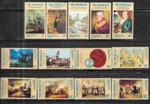 Nicaragua #978-988,C876-c877  U.S. Bicentennial  (MNH) CV$3.30