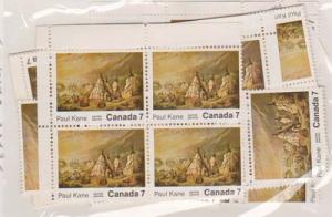 Canada -#553,553i -7c Paul Kane X 60 Inc. 10 w. Variety mint