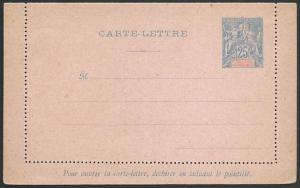 NEW CALEDONIA Early 25c lettercard unused..................................51662