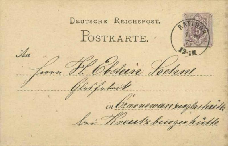 Germany 1875 Postal History