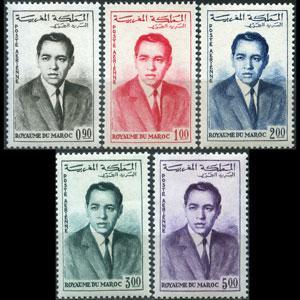 MOROCCO 1962 - Scott# C5-9 King Hassan Set of 5 NH