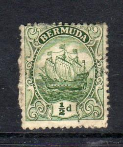 BERMUDA #82  1922   1/2p CARAVEL    F-VF USED  a
