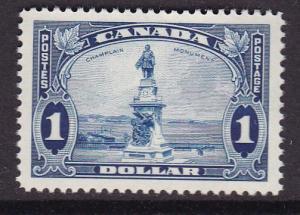 Canada 1935 KGVI $1.Face Champlain Monument, Quebec Scott 227 XF/NH/(**)