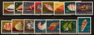 PAPUA NEW GUINEA SG137/51 1968-9 SEA SHELLS MNH