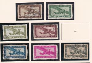 IndoChina # C1 / C17, Missing One Stamp, Airplanes, Used, 1/3 Cat.