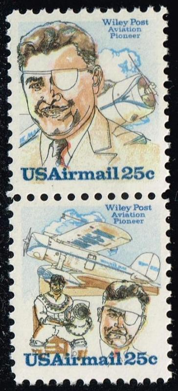 US #C95-C96 Wiley Post Se-tenant Pair; MNH (1.80)