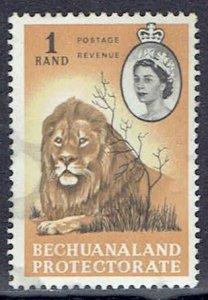 Bechuanaland Protectorate, Scott #192; 1r Queen Elizabeth II, Used