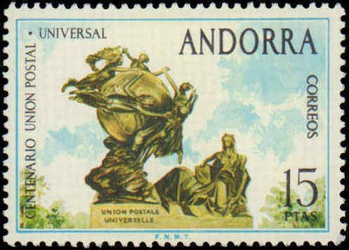1974 Andorra Spanish Administration #83, Complete Set, Never Hinged