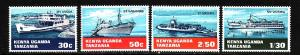 Kenya Uganda Tanganyika-Sc#193-6-unused NH set-Ships-Water Transport-1969-