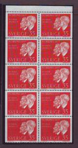 Sweden Sc771a 1967 35 ore Nobel Prize stamp bklt pane NH
