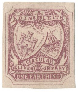 (I.B) Cinderella Collection : Circular Delivery Company (Edinburgh & Leith ¼d)