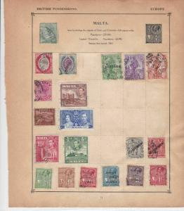 malta & albania stamps page ref 17621