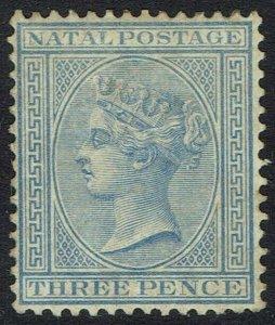 NATAL 1882 QV 3D BLUE WMK CROWN CA