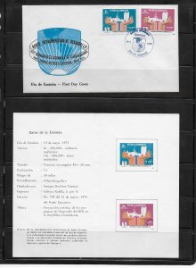 DOMINICAN REPUBLIC STAMPS,COVER ASAMBLEA DE GOBERNADORES 1975 #F35