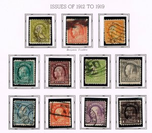US STAMP 20th OLD USED STAMP COLLECTION LOT #S1