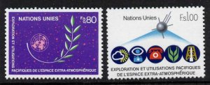 United Nations Geneva 109-10 MNH - Peaceful uses of Space, Telephone