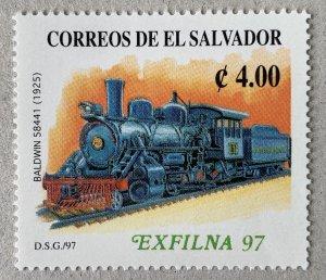 El Salvador 1997 EXFILNA '97 Locomotive, MNH. Scott 1458, CV $4.25