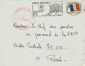 France Franchise Militaire Flag Military Stamp 1966 68 Neue-Brisach, Haut-Rhi...