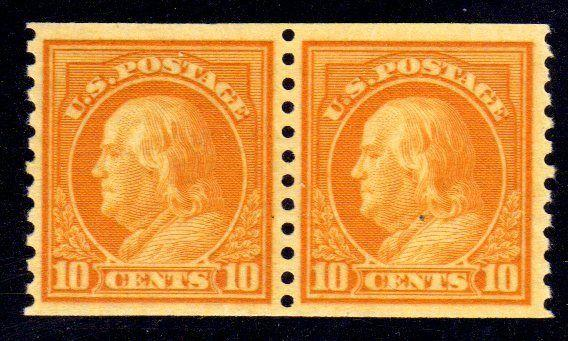 MALACK 497 XF-SUPERB OG NH, Pair, Select and Choice! g7829