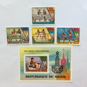 NIGER 1979 673-76 Block 24 1980 Olympic Game Mint