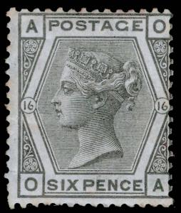 SG147, 6d grey plate 16, LH MINT. Cat £500. OA
