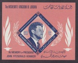Jordan # 509 (Footnote), John F. Kennedy, Souvenir Sheet, NH, 1/2 Cat.