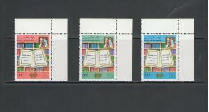 BAHRAIN:  Sc.465-67 /*** PUBLIC LIBRARY-50th ANNIV ***/ Complete Set / MNH