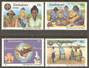 ZIMBABWE Sc# 546 - 549 MNH FVF Set-4 Girl Guides Scouts