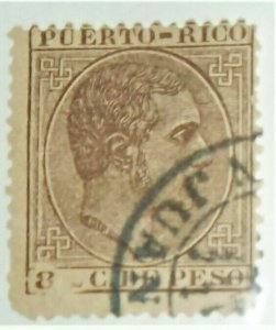 STAMPS USED PUERTO RICO  SCOTT #74 - High CV