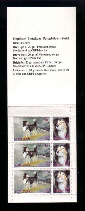 Faore Islands Sc 267a 1994 Dogs Stamp booklet mint NH