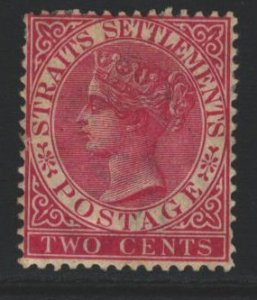 Straits Settlements Sc#41 MH - tanned gum